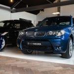 BMW X3 blauw