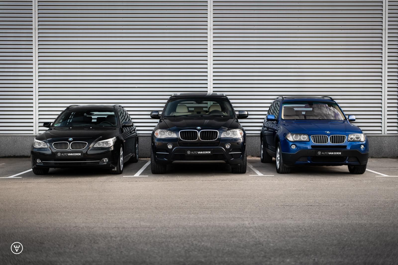 BMW 525, X3 en X5